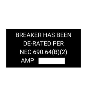 Breaker Has Been De-Rated
