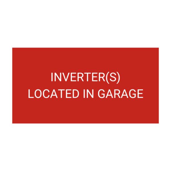 Inverters Located In Garage