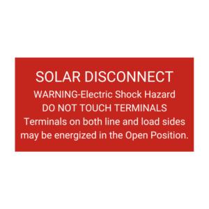 Solar Disconnect