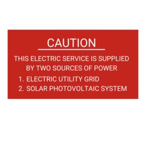 Caution Solar Tag