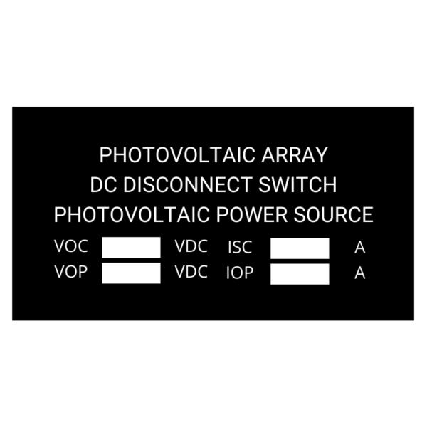Photovoltaic Array Black