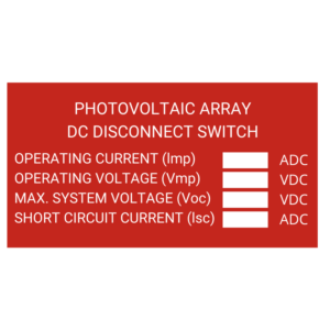 Photovoltaic Array Dc Disconnect Switch